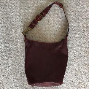 Leather burgundy Coach hobo bag